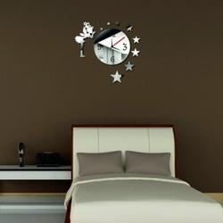Nalepovacie nástenné hodiny zrkadlové (hodiny na stenu zrkadlo) VÍLA AMALKA, 45x45 cm