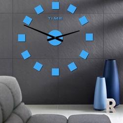Stylesa Veľké hodiny na stenu nalepovacie ŠTRVRCE i čierne P036