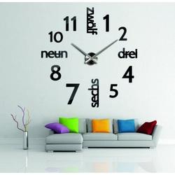 Stylesa Moderné hodiny na stenu DIY DRIWAL 3D S039 i modré