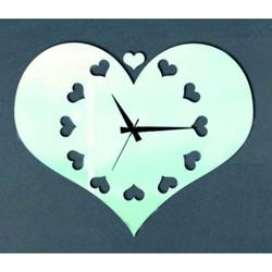 Nalepovacie nástenné hodiny zrkadlové DAVINN, 30x25 cm
