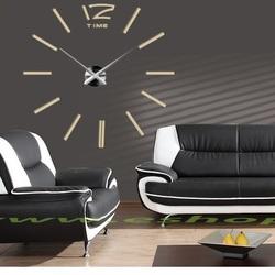 Stylesa Hodiny na stenu nalepovacie DIY 2D PLEX IP003  JUBINALE i čierne