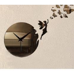 Sentop - Nástenné hodiny zrkadlo ARIS, 25x45 cm IA059S aj čierne