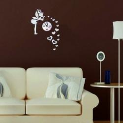 Sentop - Nástenné hodiny do detskej izby Víla lásky, 40x70 cm IA162S i čierne