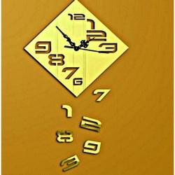 Sentop - Nástenné hodiny Padajúce čísla, 35x35 cm IA175S i čierne