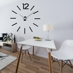 Stylesa Moderné nástenné hodiny DIY 3D EXPQZ X0081 i čierne