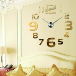 SENTOP moderné nástenné hodiny na stenu S034G FARGO zlaté