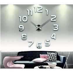Stylesa nástenné hodiny zrkadlové DIY 3D PENA PMMA FOX SZ002  zrkadlo silver