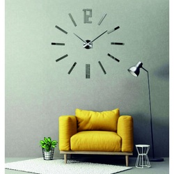 Sentop Nástenné hodiny nalepovacie zrkadlové nálepka DIY RIHAZ X0031 i čierne
