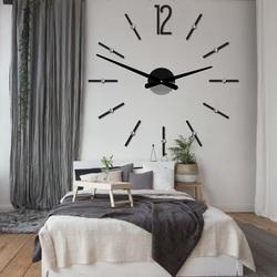 Stylesa Moderné nástenné hodiny nalepovacie SOFIA XXL DIY 12P062 i čierne