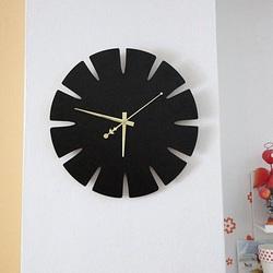Sentop Drevené hodiny na stenu z MDF SPECTRA HDFK0011 i čierne