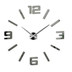 Sentop - nástenné hodiny zrkadlové  veľké čísla X0037 DIY ORFEO i čierne X0037