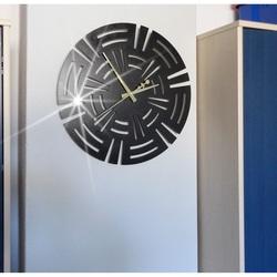 STYLESA moderné nástenné hodiny CUNA X0092 čierne