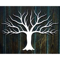 Drevená dekorácia obraz na stenu z preglejky konáriky stromu jeseň Rozmer :300 x 411 mm