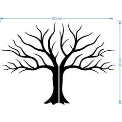Drevený obraz na stenu z preglejky strom Rozmer: 900 x1233 mm PR0174 JOHALF čierny