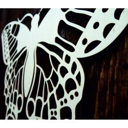 XLL 1100 X 647 mm Éjszakai pillangó faragott LEOPARTID fa rétegelt lemezből
