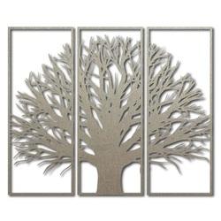 Obraz na stěnu z dřevěné překližky větve stromu v rámu / 3 kusy rámu / KANANA