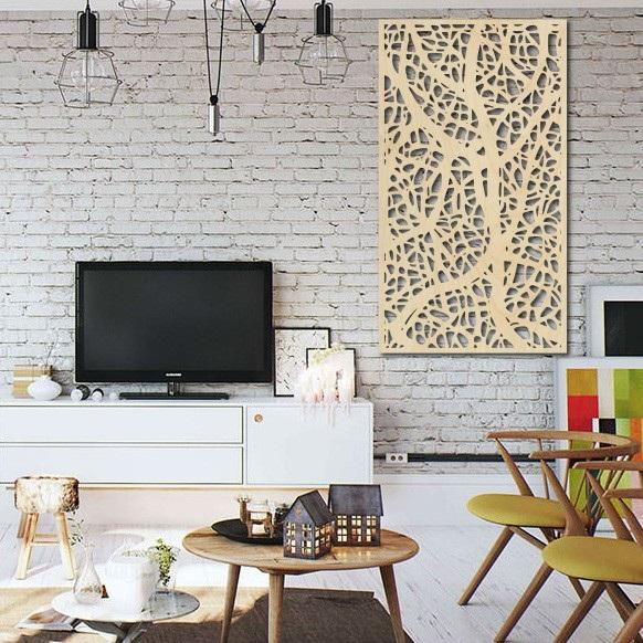Drevený obraz dekor na stenu z drevenej preglejky Topoľ  LOGOTECH