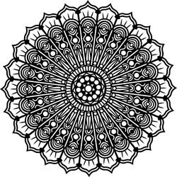Mandala kvet pokoja drevený obraz na stenu z preglejky SILVIA