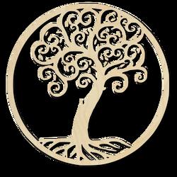 Dekorácia na stenu strom života drevený obraz z preglejky  JULKA