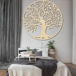 RODINA Dekorácia na stenu strom života drevený obraz z preglejky