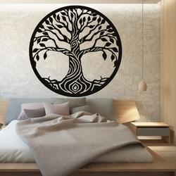 Wandbild eines Baumes aus Pappelsperrholz BIDHIA
