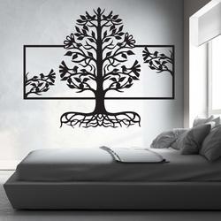 Fából készült kép a falon a fa fa rétegelt lemez nyár gyökerei Malfa