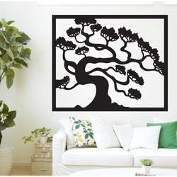 Drevený obraz na stenu strom bonsai z preglejky topoľ DRAZSKA