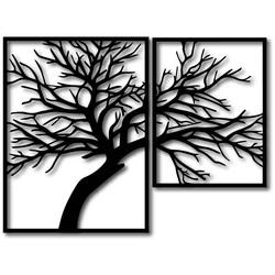 STYLESA Drevený obraz na stenu preglejka Obraz sa skladá z dvoch častí OLGA i čierny PR0221
