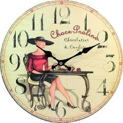 Stylesa Drevené hodiny pokušenie. Material: MDF,  30 cm C108017M