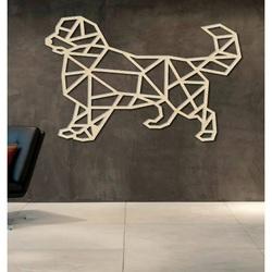 STYLESA sculptat imagine pe perete de placaj dog PR0230 negru