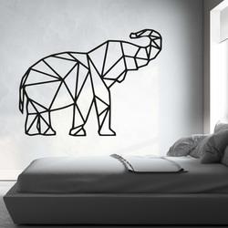 XMOM faragott kép a falon geometriai alakzatok elefánt PR0236 fekete