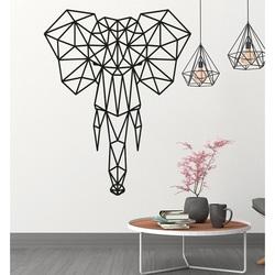 STYLESA Wooden image on plywood elephant PR0238 black