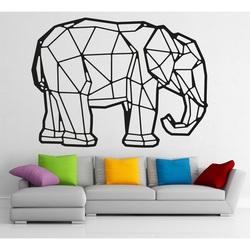 STYLESA Drewniany obraz na słoniu ze sklejki PR0239 czarny tatuaż ścienny