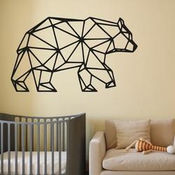 SENTOP Vyrezávaný obraz na stenu medveď PR0240 čierny