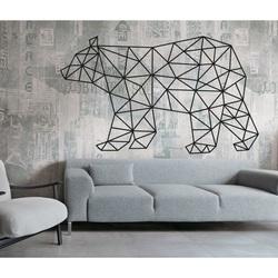 SENTOP Vyrezávaný obraz na stenu medveď PR0241 čierny