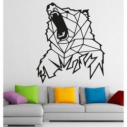 STYLESA Vyrezávaný  obraz na stenu z dreva medveď  PR0243 hnedý