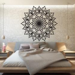 SENTOP Vyrezávaná drevená mandala obraz na stenu z preglejky KLÁRA