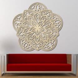 Kvet Vyrezávaná mandala  drevený obraz na stenu z preglejky PERMEN
