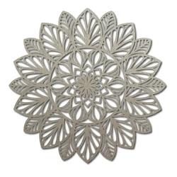 Vyrezávaná mandala drevený obraz na stenu z preglejky kvet