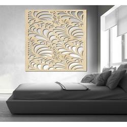 Vyrezávaný obraz na stenu z drevenej preglejky kvet LUPENEE