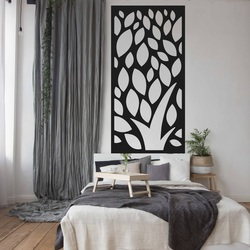 Obraz na stenu vyrezávaný z drevenej preglejky kvet LISTY