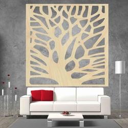 Vyřezávaný obraz na stěnu z dřevěné překližky strom OŘECH