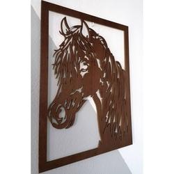 Vyrezávaný obraz na stenu z drevenej preglejky hlava koňa