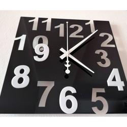 Moderné nástenné hodiny do kuchyne Farba:čierna,biela GRUP