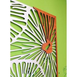 Vyrezávaný obraz na  stenu z drevenej preglejky farba originál topoľ / orange ALENKA