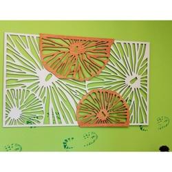 Vyrezávaný obraz z drevenej preglejky farba topol / orange GENIUS