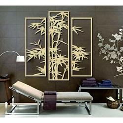Exkluzivní obraz na stěnu vyřezávaný z dřevěné překližky palma TROPY
