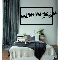 Pútavý obraz na stenu vyrezávaný z drevenej preglejky vtáky OBLOHA