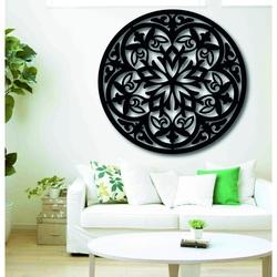 Magická drevená mandala - obraz na stenu