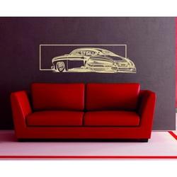 Nostalgický drevený obraz na stenu auto vyrezávané z preglejky